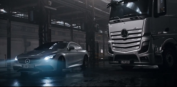 Mercedes-Benz Actros и S63 AMG Coupe