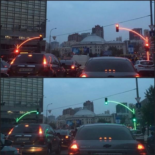 ВКиеве появились экспериментальные светофоры
