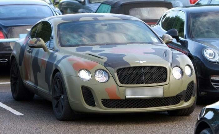 камуфляжный Bentley Continental GT